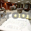 Rob Winner – rwinner@daily-chronicle.com<br /> <br /> Plans are seen from inside the cafeteria serving area at the new DeKalb High School on Wednesday, Feb. 23, 2011.