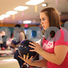 Kyle Bursaw – kbursaw@shawmedia.com<br /> <br /> DeKalb senior Alyssa Mershon prepares to take a shot during bowling practice at Mardi Gras Lanes on Friday, Nov. 18, 2011.