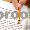 Kyle Bursaw – kbursaw@shawmedia.com<br /> <br /> Sebastian Acevedo, a fifth-grader at Genoa Elementary School, uses his pencil to follow along in the text as he reads aloud to Sandra Rease. Rease, an aide at the school, was working with Acevedo and one other student on reading skills on Friday, Oct. 28, 2011.