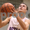 Kyle Bursaw – kbursaw@daily-chronicle.com<br /> <br /> Hinckley-Big Rock's Bernie Conley goes for a layup in the first quarter against Mooseheart in Hinckley on Tuesday, Feb. 22, 2011.