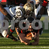 Rob Winner – rwinner@shawmedia.com<br /> <br /> Northern Illinois quarterback Jordan Lynch is stopped just short of the goal line after an 11 yard run during the fourth quarter in DeKalb, Ill., on Saturday, Oct. 15, 2011. Northern Illinois defeated Western Michigan, 51-22.