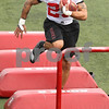 Kyle Bursaw – kbursaw@daily-chronicle.com<br /> <br /> Leighton Settle runs obstacles during practice at Huskie Stadium on Saturday, April 9, 2011.