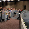 "Kyle Bursaw – kbursaw@daily-chronicle.com<br /> <br /> Belvidere North wrestler Heriberto ""Eddie"" Avila and his family are greeted in the auditorium of Genoa-Kingston high school with a standing ovation by the students on Wednesday, Feb. 23, 2011. Avila ended up having his leg amputated after an unfortunate accident while wrestling against Genoa-Kingston.<br /> The Genoa-Kingston community raised more than $5,700 to give to the Avila family to help them through the tragedy."