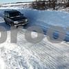 Kyle Bursaw – kbursaw@daily-chronicle.com<br /> <br /> Highway 72 east of Genoa was only wide enough for one car to safely pass  in either direction in some areas on Thursday, Feb. 3, 2011.