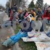 Wendy Kemp - For The Daily Chronicle<br /> Shannon Edwards, 10, of Sycamore (center) enjoys the annual Pumpkin Parade in Sycamore on Sunday.<br /> Sycamore 10/30/11