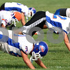 Kyle Bursaw – kbursaw@shawmedia.com<br /> <br /> Genoa-Kingston football players stretch out at the start of practice on Monday, Sept. 12, 2011.