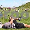 Kyle Bursaw – kbursaw@daily-chronicle.com<br /> <br /> Ben Kovalick (front) and the rest of the Kaneland football team stretch at the start of practice on Thursday, Aug. 11, 2011.