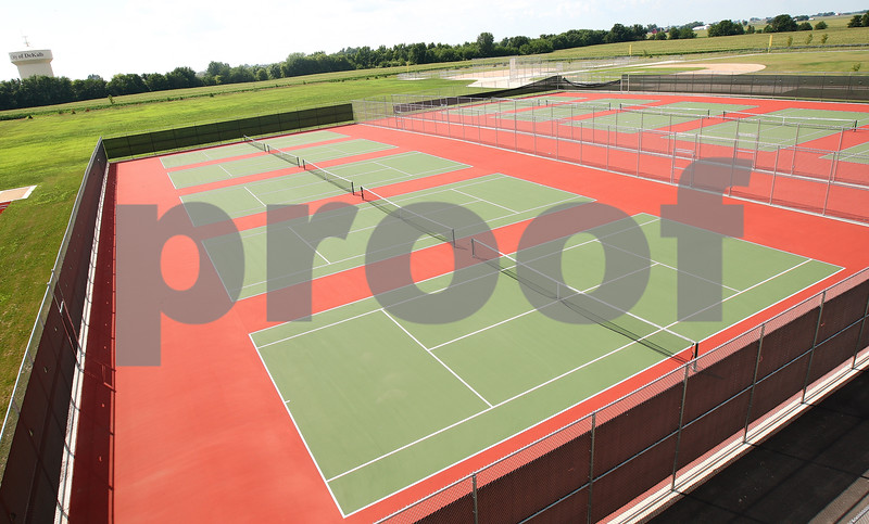 Kyle Bursaw – kbursaw@daily-chronicle.com<br /> <br /> There are ten tennis courts at the new DeKalb High School, taken on Friday, July 29, 2011.