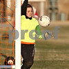 Rob Winner – rwinner@daily-chronicle.com<br /> <br /> DeKalb goalkeeper Maddie Frye makes a save during the second half in DeKalb, Ill., on Monday, March 28, 2011. Boylan defeated DeKalb, 3-0.