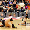 Rob Winner – rwinner@shawmedia.com<br /> <br /> DeKalb libero Stephanie Milroy controls a ball late in the third game in DeKalb on Thursday, Oct. 20, 2011. Dekalb defeated Morris, 25-19, 18-25 and 25-23.