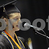 Wendy Kemp - For The Daily Chronicle<br /> <br /> Graduate Grace Waller introduces the superintendent during the DeKalb High School graduation ceremony at the Convocation Center at Northern Illinois University on Saturday.