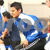 Kyle Bursaw – kbursaw@shawmedia.com<br /> <br /> Genoa-Kingston soccer player Chris Camargo (center) does warm-ups with the team at the start of practice on Monday, Oct. 17, 2011.