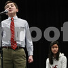 "Rob Winner – rwinner@daily-chronicle.com<br /> <br /> A confident Mark Rogers correctly spells the word ""mesmerize"" to win the DeKalb County Spelling Bee on Saturday at Kishwaukee College. ""It's been a dream of ours since first grade,"" said Paul Rogers, Mark's father, when asked how he felt about his son's accomplishment. ""I couldn't be prouder."""