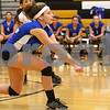 Kyle Bursaw – kbursaw@shawmedia.com<br /> <br /> Genoa-Kingston's Mackensie Oberg goes for a dig during the Cogs Class 3A Regional Quarterfinal match against Hampshire at Sycamore High School on Monday, Oct. 24, 2011.