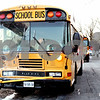 Rob Winner – rwinner@daily-chronicle.com<br /> <br /> One of two Sycamore school buses involved in an accident on Tuesday afternoon shows front end damage.
