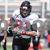 Kyle Bursaw – kbursaw@daily-chronicle.com<br /> <br /> Wide receiver Nathan Palmer makes a run after the catch during practice at Huskie Stadium on Saturday, April 2, 2011.
