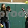 Rob Winner – rwinner@daily-chronicle.com<br /> <br /> DeKalb's Kelli Gerace during softball practice at the DeKalb Park District Sports and Recreation Center on Tuesday, March 8, 2011.