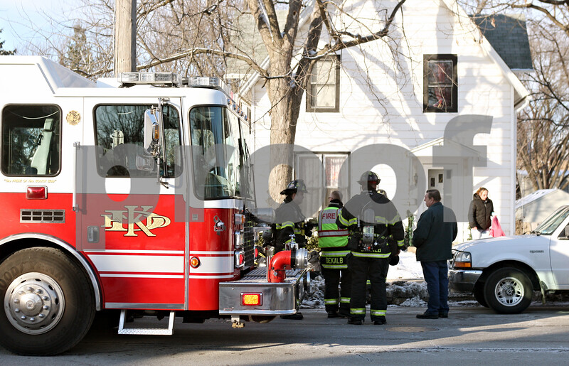 Rob Winner – rwinner@daily-chronicle.com<br /> <br /> DeKalb firefighters respond to a call on the 800 block of Pleasant Street in DeKalb on Thursday afternoon.