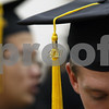 Wendy Kemp - For The Daily Chronicle<br /> A tassle hangs off a hat as the graduates line up during Sunday's graduation ceremony at Northern Illinois University.<br /> DeKalb 12/11/11