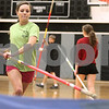 Kyle Bursaw – kbursaw@daily-chronicle.com<br /> <br /> Kaneland's Brooke Patterson makes a run while practicing the pole vault in a school gym on Wednesday, March 9, 2011.