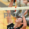 Kyle Bursaw – kbursaw@shawmedia.com<br /> <br /> Hannah Knox spikes the ball during Sycamore's match against DeKalb in Sycamore, Ill. on Tuesday, Sept. 13, 2011.