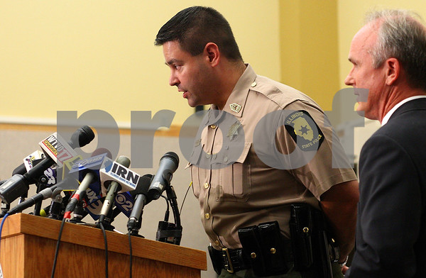 Kyle Bursaw – kbursaw@daily-chronicle.com<br /> <br /> Master Sergeant Isaiah Vega responds to a question at a press conference about the case against Jack Daniel McCullough in Sycamore, Ill. on Tuesday, July 12, 2011.