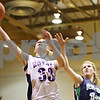 Rob Winner – rwinner@daily-chronicle.com<br /> <br /> Hinckley-Big Rock's Tess Godhardt puts up a shot during the third quarter of the IHSA Class 1A DeKalb Super-Sectional on Monday February 21, 2011 in DeKalb, Ill. River Ridge-Scales Mound defeated Hinckley-Big Rock, 43-28.