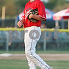 Rob Winner – rwinner@daily-chronicle.com<br /> <br /> DeKalb County Liners starting pitcher Connor Buxton reacts after walking a batter during the third inning on Thursday, July 21, 2011 in Sycamore, Ill.