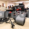 "Kyle Bursaw – kbursaw@daily-chronicle.com<br /> <br /> Various cameras wait to be used by students in a session called ""Quick and Easy Photo Story."" The session, led by Mary Baker, is part of the Technology Conference & Expo at NIU's Holmes Student Center on Saturday, April 9, 2011 and teaches students how to use a piece of software called Photo Story."
