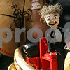 "Rob Winner – rwinner@shawmedia.com<br /> <br /> David and Chad Carrington's pumpkin entry modeled after the 1960 film ""The Time Machine"" won the 2011 Lions Club President's Award as seen at the Sycamore Pumpkin Festival on Friday, Oct. 28, 2011."