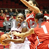 Rob Winner – rwinner@daily-chronicle.com<br /> <br /> Northern Illinois guard Marke Freeman is pressured by two Illinois State defenders during the first half in DeKalb, Ill. on Monday, Jan. 3, 2011.