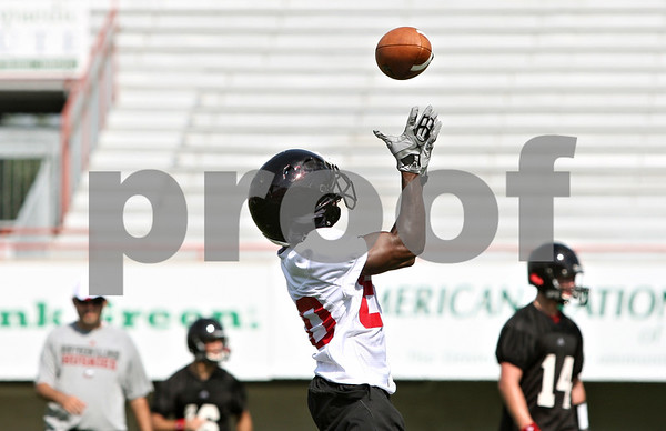 Rob Winner – rwinner@daily-chronicle.com<br /> <br /> Tommylee Lewis during practice on Friday, Aug. 5, 2011, in DeKalb, Ill.