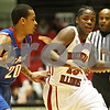 Rob Winner – rwinner@shawmedia.com<br /> <br /> DePaul guard Brandon Young (20) pressures Northern Illinois guard Marquavese Ford (15) during the firs half in DeKalb, Ill., on Wednesday, Dec. 14, 2011.