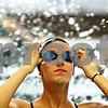 Rob Winner – rwinner@shawmedia.com<br /> <br /> Tara Gidaszewski puts on her goggles during swim practice at Huntley Middle School on Thursday, Nov. 10, 2011.