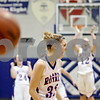 Rob Winner – rwinner@daily-chronicle.com<br /> <br /> Hinckley-Big Rock's Tess Godhardt reacts after making her second free throw with time expired to give the Lady Royals a 37-36 victory over DeKalb on Monday, February 7, 2011 in Hinckley, Ill.