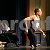 Rob Winner – rwinner@daily-chronicle.com<br /> <br /> Lloyd Bachrach walks on stage at the Sandwich Opera House without his prosthetic legs during a presentation for local school children in Sandwich on Thursday afternoon.