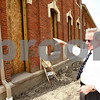Kyle Bursaw – kbursaw@daily-chronicle.com<br /> <br /> Sycamore City Manager Bill Nicklas explains some of the renovations being done on the old train depot at the corner of Sacramento Street and DeKalb Avenue in Sycamore, Ill. on Monday, Aug. 1, 2011.
