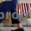 Kyle Bursaw – kbursaw@daily-chronicle.com<br /> <br /> Cecilia Seip, 99, walks to the other end of the polling area to turn in her ballot at Oak Crest Retirement Center in DeKalb, Ill. on Tuesday, April 5, 2011.