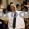 Rob Winner – rwinner@shawmedia.com<br /> <br /> Kaneland coach Brian Johnson reacts to an official's call during the second quarter in Hinckley on Tuesday night.