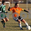 Rob Winner – rwinner@daily-chronicle.com<br /> <br /> DeKalb's Jen Dorland (14) controls a ball ahead of Boylan's Santina Graceffa during the second half in DeKalb, Ill., on Monday, March 28, 2011. Boylan defeated DeKalb, 3-0.