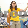Kyle Bursaw – kbursaw@shawmedia.com<br /> <br /> Sarah Eckert, a first-year biology teacher at Sycamore High School, uses her hands and a marker to illustrate different types of energy during a lesson on Friday, Oct. 21, 2011. Eckert also wore her 'Mighty Chondrian' t-shirt for the lesson, a play off of mitochrondia, a cellular organelle that generates energy.