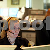 Rob Winner – rwinner@daily-chronicle.com<br /> <br /> Communications deputy Becky Scott watches over monitors at her work station while dispatching Genoa and Sycamore police at the Communications Division of the DeKalb County Sheriff's Office in Sycamore on Monday afternoon.