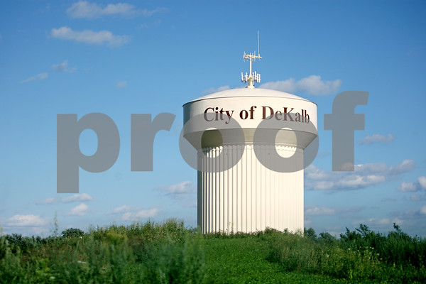 Rob Winner – rwinner@daily-chronicle.com<br /> <br /> The water tower located on the north side of DeKalb on Tuesday, Aug. 9, 2011.