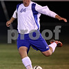 Rob Winner – rwinner@shawmedia.com<br /> <br /> Hinckley-Big Rock's Zach Michels kicks a ball downfield during the second half in Hinckley on Tuesday, October 18, 2011. Hinckley-Big Rock defeated Genoa Kingston, 3-2, during the Class 1A Hinckley-Big Rock Sectional semifinal.