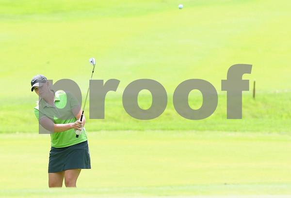 Kyle Bursaw – kbursaw@daily-chronicle.com<br /> <br /> Brittany Atterbury hits one up to the green at Kishwaukee Country Club on Friday, June 17, 2011. Brittany Atterbury defeated Nora Lucas to win the final match of the 2011 Illinois State Women's Amateur Championship.