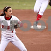 Rob Winner – rwinner@daily-chronicle.com<br /> <br /> Northern Illinois University shortstop Krista Matsui fires to first after fielding a ground ball in the first inning on Friday, April 1, 2011, in DeKalb, Ill. NIU went on to defeat Eastern Michigan in the first game of a doubleheader, 8-6.