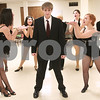 "Kyle Bursaw – kbursaw@daily-chronicle.com<br /> <br /> Patrick Price, plays Billy Flynn (center), while rehearsing a dance number in ""Chicago"" with CCT Stage Right at First United Methodist Church in DeKalb, Ill. on Tuesday, Jan. 4, 2011."