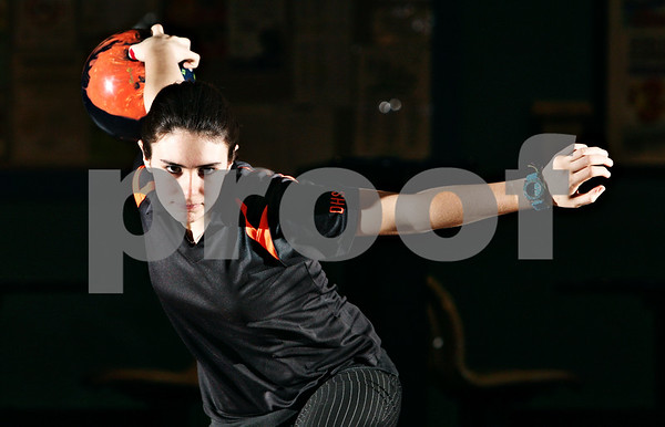 Rob Winner – rwinner@daily-chronicle.com<br /> <br /> DeKalb's Brandi Underwood is the Daily Chronicle's girls bowler of the year.<br /> <br /> DeKalb, Ill. Mardi Gras Lanes<br /> Wednesday, Feb. 16, 2011