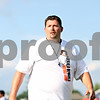 Rob Winner – rwinner@daily-chronicle.com<br /> <br /> Coach Jamie Macdonald watches as the DeKalb Bengals Football Camp gets underway in DeKalb on Monday evening.<br /> <br /> ***This is the secondary image, so crop to your needs - Rob