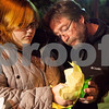 "Kyle Bursaw – kbursaw@shawmedia.com<br /> <br /> Kellianne Nottelmann, Antinette ""Toni"" Keller's former roommate, and her father Michael Nottelmann light the candles in their floating lanterns to put out in the East Lagoon at a memorial ceremony for Keller in DeKalb, Ill. on Tuesday, Oct. 18, 2011."
